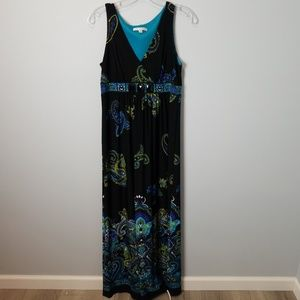 Sandra Darren Maxi Paisley Dress 6